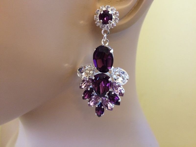 Amethyst Crystal Wedding Jewelry Collection The Crystal