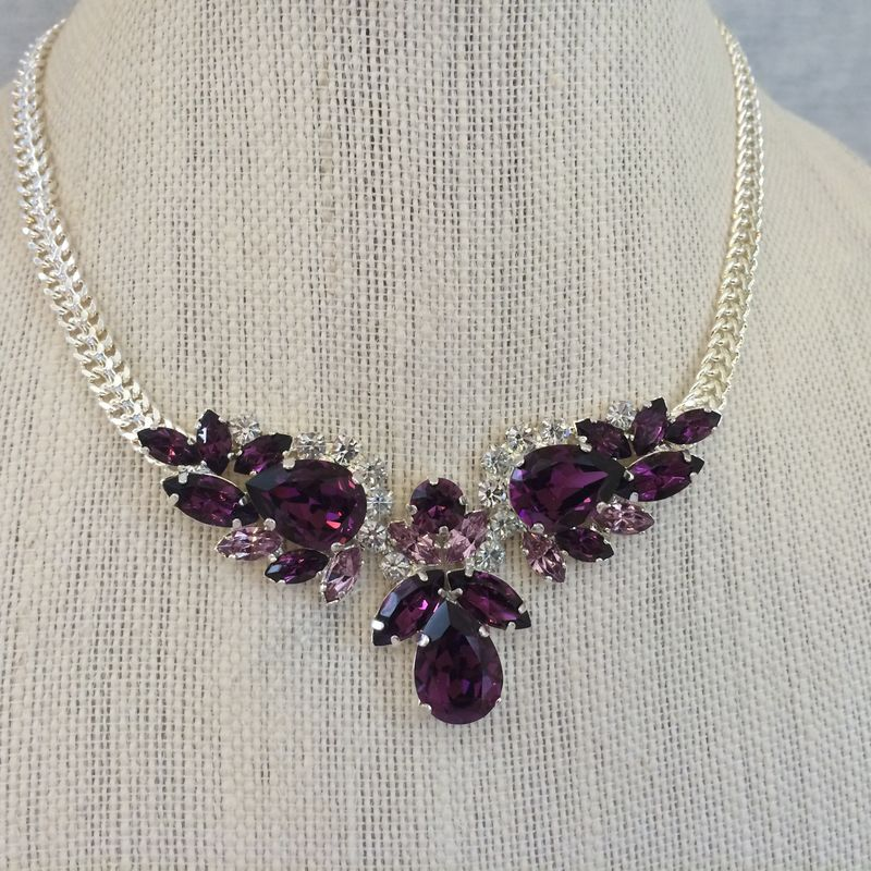 Swarovski amethyst pendant necklace the crystal rose bridal swarovski amethyst pendant necklace product images of aloadofball Images