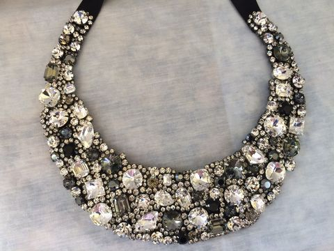 Chunky,Black,Crystal,Bridal,Statement,Necklace,-,Black statement necklace, Collar necklace,statement necklace, crystal necklace, swarovski crystal necklace, bridal necklace, bib necklace, wedding necklace