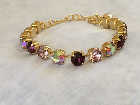 Light,Amethyst,Bridesmaid,Tennis,Bracelet,-,Swarovski,Crystal,Jewelry,Glass,rhinestone_bracelet,bridesmaid_bracelet,wedding_bracelet,wedding_jewelry,crystal_bracelet,Swarovski_bracelet,Tennis_bracelet,Sabika,purple_bracelet,amethyst_bracelet,2_strand_bracelet,2_row_bracelet,swarovski crystal,sterling silver