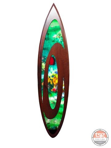 Art,Glass,Jarrah,Surfboard,03,fused glass, surfing, surfboards, Western Australian Art