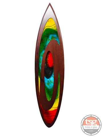 Art,Glass,Jarrah,Surfboard,11,fused glass, surfing, surfboards, Western Australian Art
