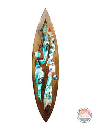 Art,Glass,Marri,Surfboard,06,fused glass, surfing, surfboards, Western Australian Art