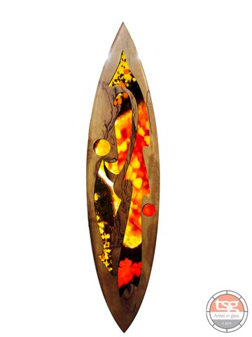 Art,Glass,Marri,Surfboard,11,fused glass, surfing, surfboards, Western Australian Art