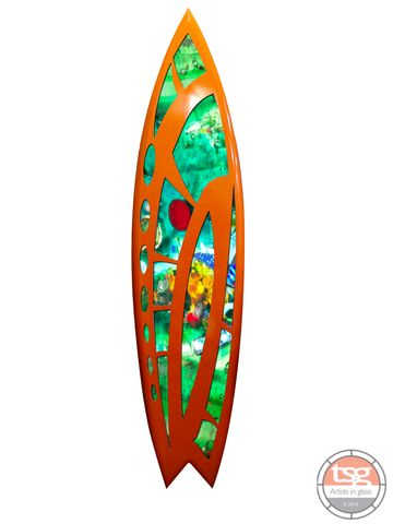 Art,Glass,Surfboard,18,fused glass, surfing, surfboards, Western Australian Art