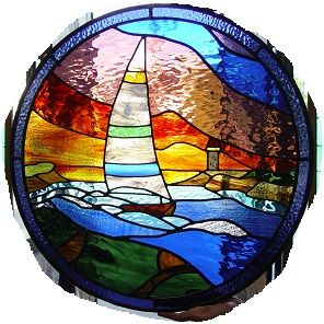 Stained,Glass,Porthole