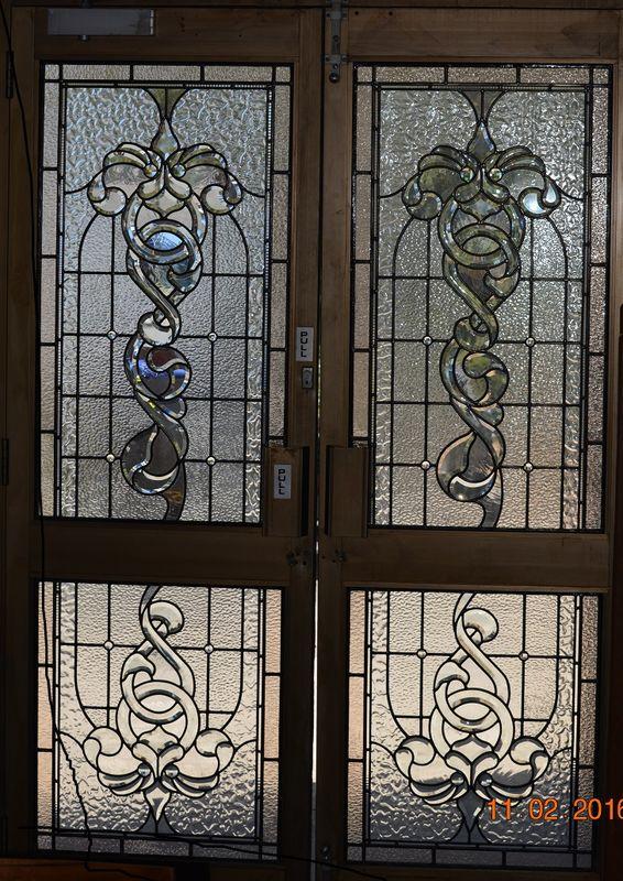1 x Custom Front Entry Bevelled Leadlight Door Panels - TSG Artists in Glass & 1 x Custom Front Entry Bevelled Leadlight Door Panels - TSG Artists ...