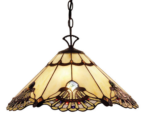 BENITA,BEIGE,HANGING,LAMP,pendant lamp shade; stained glass lamp shades;tiffany