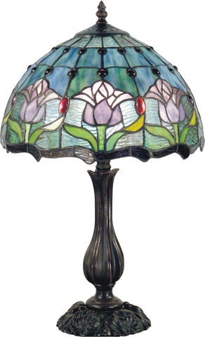 MAUVE,TULIP,SMALL,LAMP,pendant lamp shade; stained glass lamp shades;tiffany;table lamp