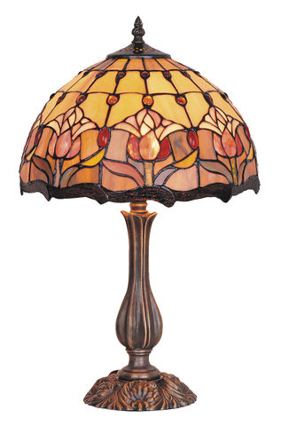 RED,TULIP,TABLE,LAMP,pendant lamp shade; stained glass lamp shades;tiffany;table lamp