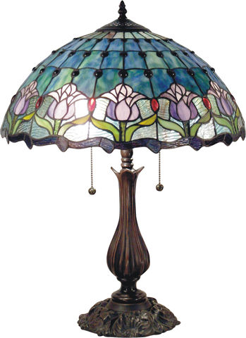 MAUVE,TULIP,TABLE,LAMP,pendant lamp shade; stained glass lamp shades;tiffany;table lamp