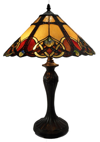 SUNSET,LARGE,TABLE,LAMP,pendant lamp shade; stained glass lamp shades;tiffany;table lamp
