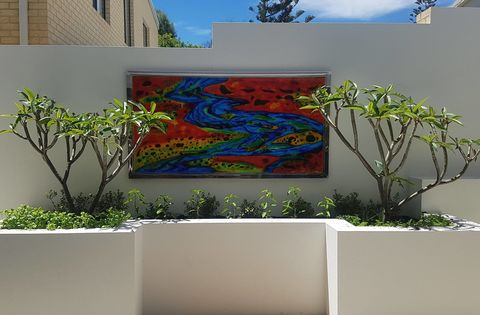 Illuminated,wall,art,glass,feature,02,fused art glass; wall art, garden wall art, art glass
