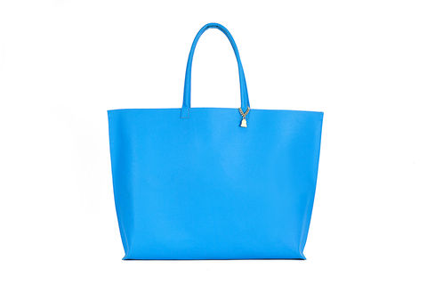 Blue,Primrose,Tote,Cork Leather, Vegan , Tote, bright blue