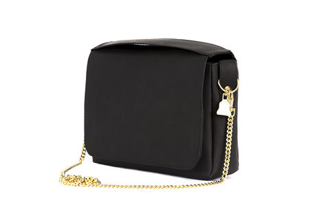 Black,Citibag, Cork leather, clutch, Vegan