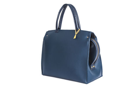 Drayton,Navy,Loop,Zip,Tote,Vegan, Tote, Wilby, handbag, ethical, everydaywear