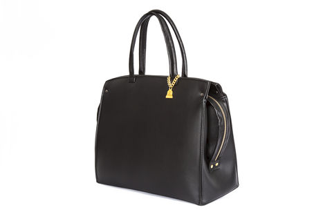 Drayton,Black,Loop,Zip,Tote,Vegan, Tote, Wilby, handbag, ethical, everydaywear
