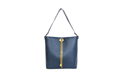 Drayton,Navy,Chain,Tote,Vegan, Tote, Wilby, handbag, ethical, everydaywear