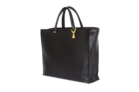 Drayton,Black,Drop,Tote,Vegan, Tote, Wilby, handbag, ethical, everydaywear
