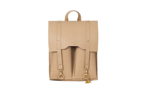 Beige,Bailey,Rucksack,vegan, sustainable, cork, saddle bag, fashion