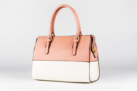 Light,Tone-Time,Handbag,Vegan, PU, Two tone
