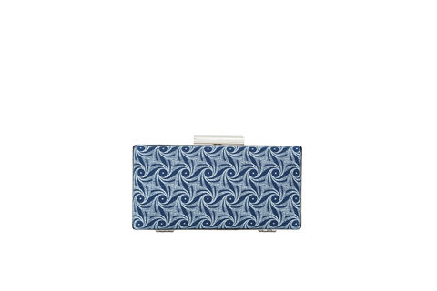 Blue,Swirl,Print,Clutch,Mosaic, Clutch, Vegan, sustainable, prints, UK Made,