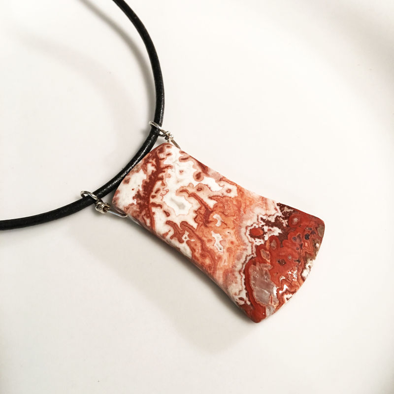 Crazy Lace Agate Necklace - product images  of