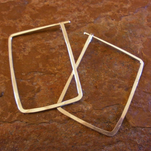 Sterling,Silver,Hoop,Earrings,,Hammered,Rectangle,Hoops,Jewelry,Earrings,silver_hoop,sterling_hoops,sterling_silver_hoop,rectangle_hoops,hammered_silver_hoop,silver_hoops,silver_rectangle,rectangle_earrings,silver,silver_earrings,sstargell,steph_stargell,valentines_day,sterling_silver