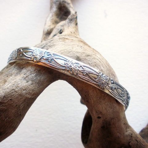 Sterling,Silver,Cuff,-,Floral,Art,Nouveau,Bracelet,Jewelry,sterling_cuff,silver_cuff,sterling_silver_cuff,sterling_floral_cuff,Art_Nouveau_Bracelet,Art_Nouveau_Cuff,silver_floral_cuff,Silver_Bracelet,Sterling_Bracelet,Classic_Cuff,floral_cuff,sstargell,valentines_day,sterling_silver