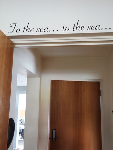 Wall,Poetry,decal, to the sea, sea, wall art, decor, wall, vinyl, lettering, quote, type, poetry, poem