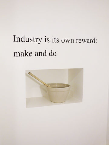 Wall,Poetry,decal, industry is its own reward, make and do, industry, wall art, decor, wall, vinyl, lettering, quote, type, poetry, poem