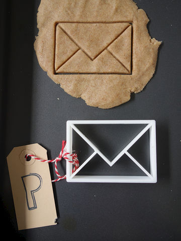 Envelope,Cookie,Cutter,Printmeneer, cookie, biscuit, cutter, dough, baking, white, 3D, printed, print, envelope, letter, message, love letter