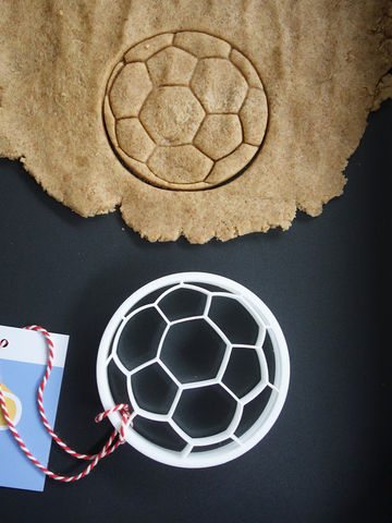 Football,Cookie,Cutter,Printmeneer, cookie, biscuit, cutter, dough, baking, white, 3D, printed, print, soccer, football, world cup