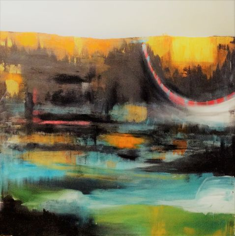 New,Dawn, painting, art, original, abstract, oil paints, canvas, signed, expressive, emotive, evocative, landscape, for sale, interiors, interior design, decor, statement piece, architects, art collectors, artdealers, unique, sought after, contemporary art