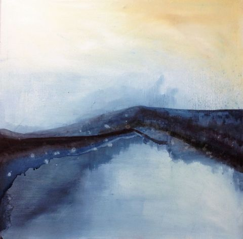Blue,Hills, painting, art, original, abstract, oil paints, canvas, signed, expressive, emotive, evocative, landscape, for sale, interiors, interior design, decor, statement piece, architects, art collectors, artdealers, unique, sought after, contemporary art