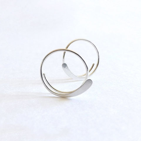 Sterling,Silver,Hammered,Open,Hoop,Earrings,jewelry, earrings, hoops, sterling silver hoop, silver hoop earrings, simple earrings, unique earrings, choose your size, artistikat, KDavisStudios, gift for her, gift idea