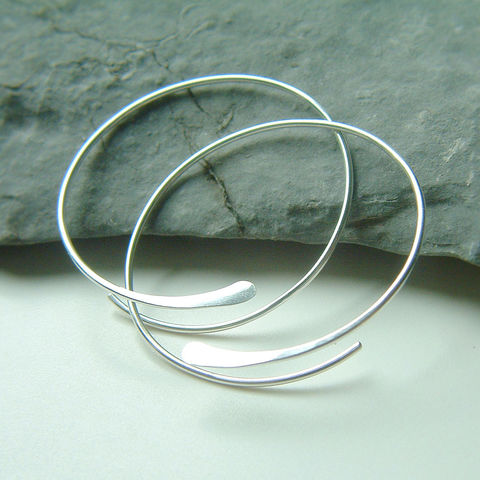 Silver,Open,Hoops,Large,Hammered,Earring,,Choose,Your,Size,jewelry, earrings, hoop earrings, large hoops, sterling silver earrings, unique earrings, choose your size, kdavisstudios, artistikat