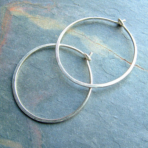 Hammered,Silver,Hoop,Earrings,Medium,Hoops,Jewelry, Earrings, Hoop, silver hoop, silver hoop earrings, sterling silver hoop, hoop earrings, silver hoops, silver jewelry, minimalist jewelry, K Davis Studios