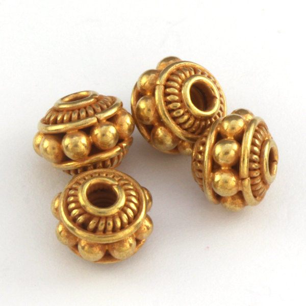 bali gold vermeil granulated beads set of 4 alaiyna b