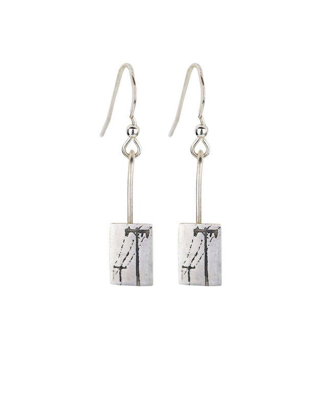 Earrings- Telegraph wire earrings - product images