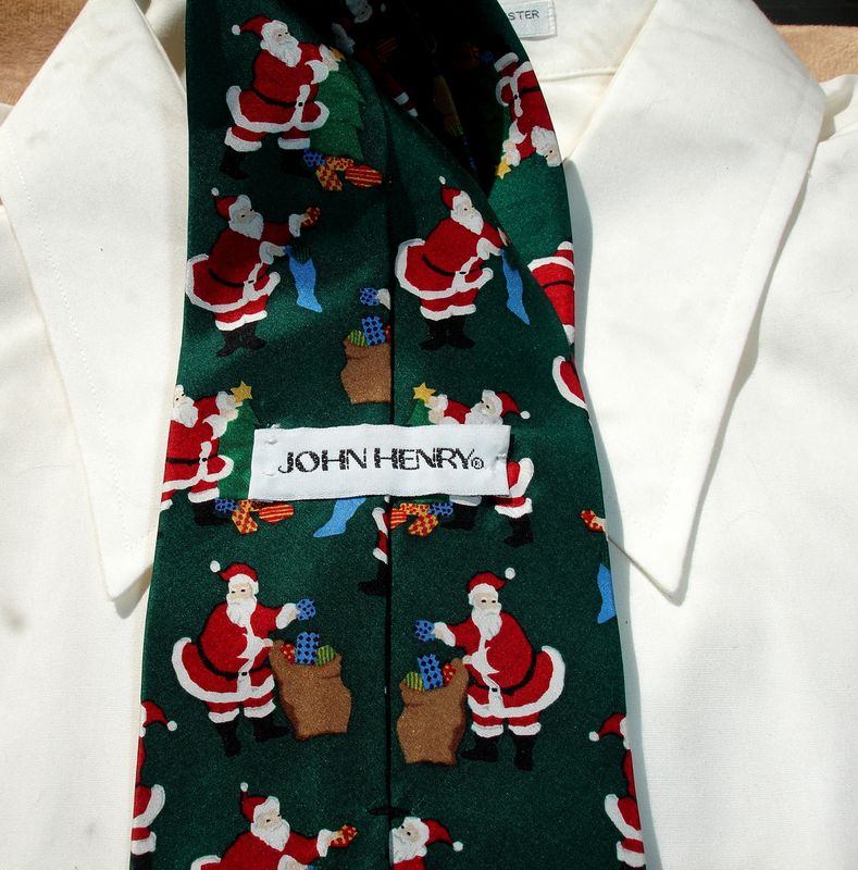 Men's Santa On Christmas Eve Vintage Silk Tie By John Henry  - product images  of