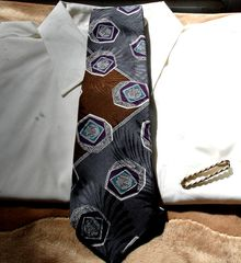 Mens,Halston,Original,Tie,In,Brown,Gray,Purple,White,Navy,And,Teal,tie, Halston Original, Mens tie, brown, gray, purple, white, navy, teal, nuts and bolts, mens accessory, Two Artisan Sisters