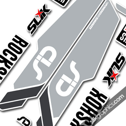 Rockshox,SID,2013,Style,Decals,-,White,Forks, SID, 2013, 2014, Fork, decals, stickers