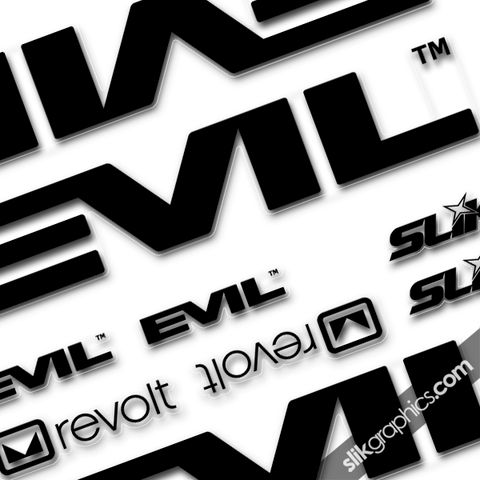 EVIL,Revolt,Decal,Kit, Revolt, decals, stickers, frame decals