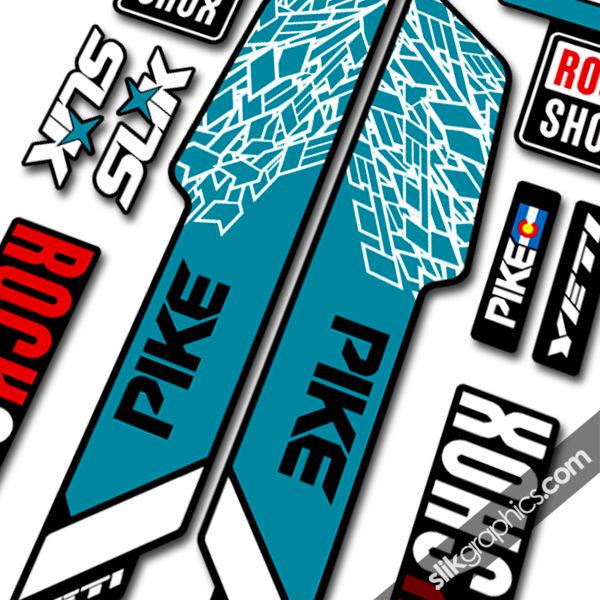 Rockshox pike 2013 style decals yeti edition for black forks product images of