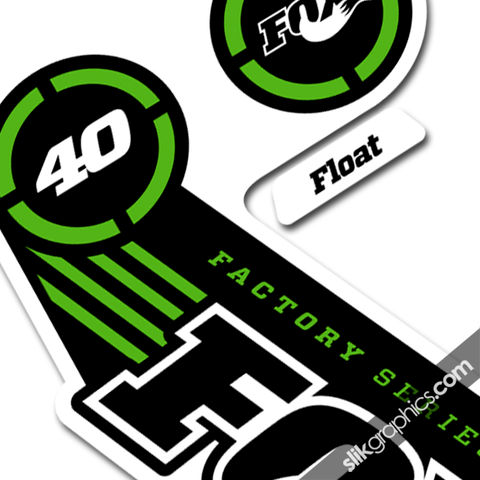Fox,40,2014,Factory,Style,Decal,Kit,-,White,Forks,Fox 40, 2014, float, fork decals, stickers, factory
