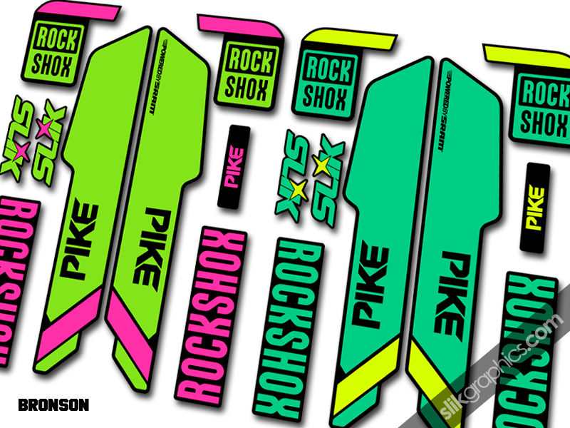 rockshox pike 2013 style santa cruz edition decals. Black Bedroom Furniture Sets. Home Design Ideas