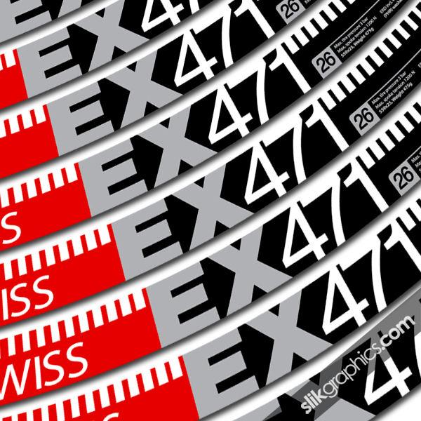 Dt Swiss Ex 471 Style Decal Kit Slik Graphics