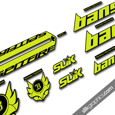Banshee,Spitfire,2015,Style,Decal,Kit, Spitfire, decals, graphics, stickers, frame