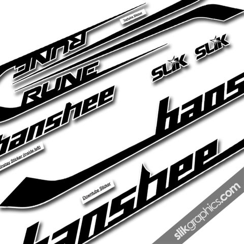 Banshee,Rune,2013,Style,Decal,Kit, Rune, decals, graphics, stickers, frame